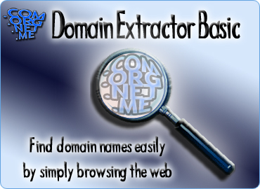 Find domain names easily by simply browsing the web.