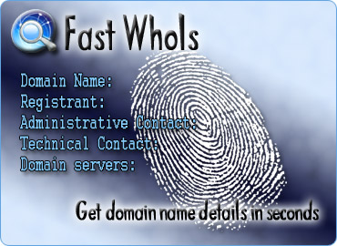 Get Domain name details in seconds.